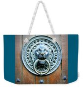Lion Door Knocker In Norway Weekender Tote Bag