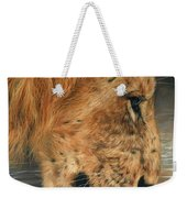 Lion Drinking Weekender Tote Bag