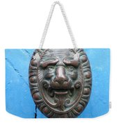 Lion Face Door Knob Weekender Tote Bag by Lainie Wrightson