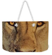 Lion Face  Weekender Tote Bag