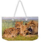 Lion Family Weekender Tote Bag