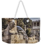 Lion Fountain In Rome Italy Weekender Tote Bag