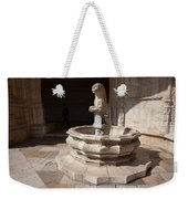 Lion Fountain Jeronimos Monastery In Lisbon Weekender Tote Bag