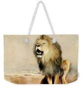 Lion Weekender Tote Bag by Heike Hultsch