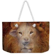 Lion Lamb Face Weekender Tote Bag