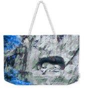 Lion Of Lucerne Weekender Tote Bag by Dan Sproul