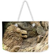Lion On The Tree Of  Life Weekender Tote Bag