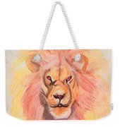 Lion Orange Weekender Tote Bag