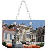 Lion Place Of Samos Weekender Tote Bag