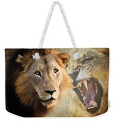 Lion Profile Weekender Tote Bag