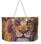 Lion Stare Weekender Tote Bag