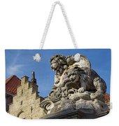 Lion Statue In Bruges Weekender Tote Bag