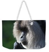 Lion Tailed Macaque Weekender Tote Bag
