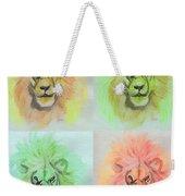 Lion X 4  Weekender Tote Bag