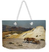 Lioness And Cubs Weekender Tote Bag by Jean Leon Gerome