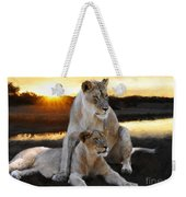 Lioness Protector Weekender Tote Bag