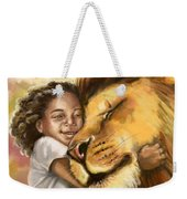 Lion's Kiss Weekender Tote Bag by Tamer and Cindy Elsharouni