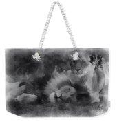 Lions Photo Art 01 Weekender Tote Bag