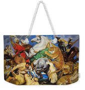 Lions Tigers And Leopard Hunt Homage To Rubens Weekender Tote Bag