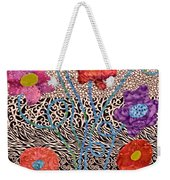Liquid Flowers Weekender Tote Bag