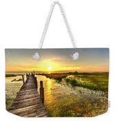 Liquid Gold Weekender Tote Bag by Debra and Dave Vanderlaan