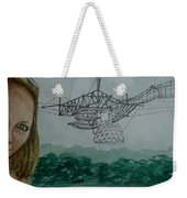Amber Listening For Aliens At Arecibo Weekender Tote Bag