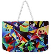 listening to piano concert op.42 of Arnold Schoenberg Weekender Tote Bag