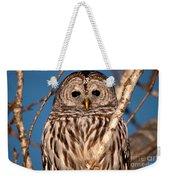 Lit Up Owl Weekender Tote Bag