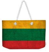 Lithuania Flag Vintage Distressed Finish Weekender Tote Bag