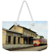 Lithuania. Silute Train Station. 2008 Weekender Tote Bag