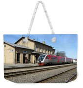 Lithuania. Silute Train Station. 2009 Weekender Tote Bag