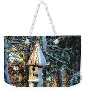 Little Birdhouse In The Woods Weekender Tote Bag