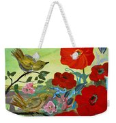 Little Birds And Poppies Weekender Tote Bag
