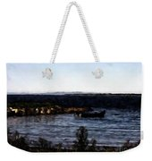 Little Black Boat Abstraction Weekender Tote Bag
