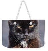 Little Black Kitty Weekender Tote Bag