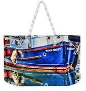 Little Blue Boat Hdr Weekender Tote Bag