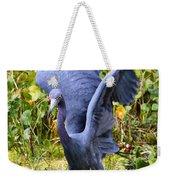 Little Blue Heron Blue Weekender Tote Bag