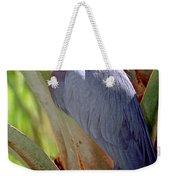 Little Blue Heron Male In Breeding Weekender Tote Bag
