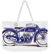 Little Blue Indian Weekender Tote Bag