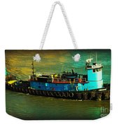 Little Blue Tug - New York City Weekender Tote Bag