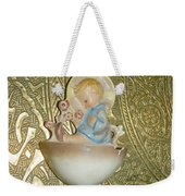 Newborn Boy In The Baptismal Font Sculpture Weekender Tote Bag