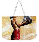 Little Boy In The Beach Weekender Tote Bag