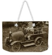 Little Boy In Toy Fire Engine Circa 1920 Weekender Tote Bag