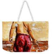 Little Boy On The Beach II Weekender Tote Bag