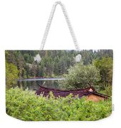 Little Cabin On A Lake Weekender Tote Bag