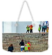 Little Children Climbing Steps Of Lutheran Cathedral Of Helsinki-finland Weekender Tote Bag