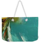 Little Cove Noosa Heads Abstract Palette Knife Seascape Painting Weekender Tote Bag