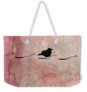 Little Crow In The Pink Weekender Tote Bag
