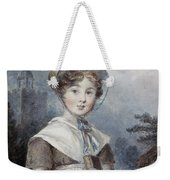 Little Girl In A Quaker Costume Weekender Tote Bag