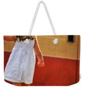 Little Girl In White Dress Weekender Tote Bag